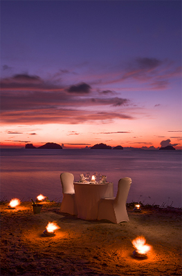 Romantic Dinner for Two on the Beach