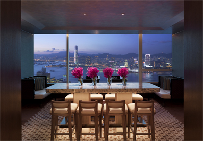 Honeymoon Champagne at Conrad Hong Kong's Executive Lounge